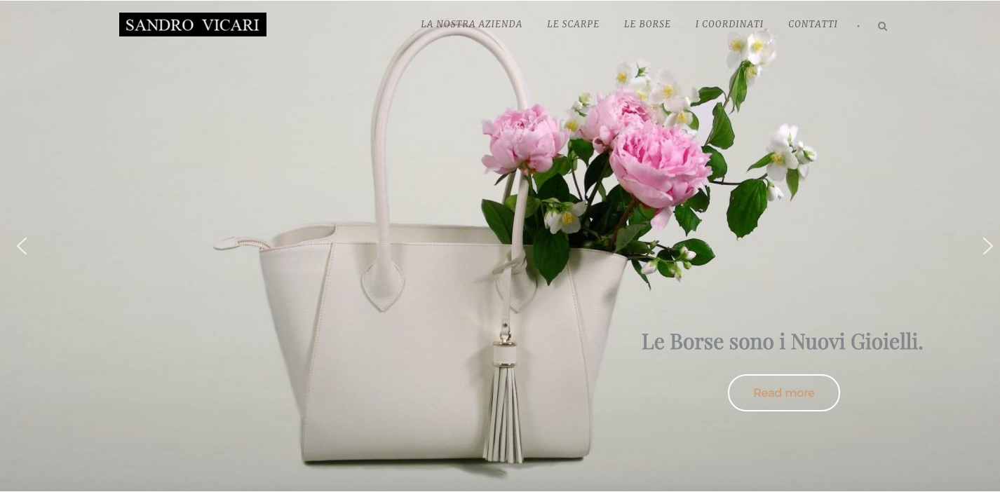 Realizzazione Home page Slider Sandro Vicari