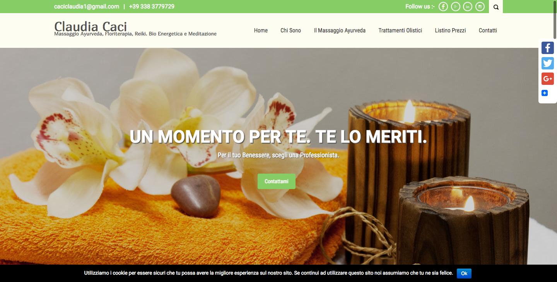 Home Page Sito Web Claudia Caci