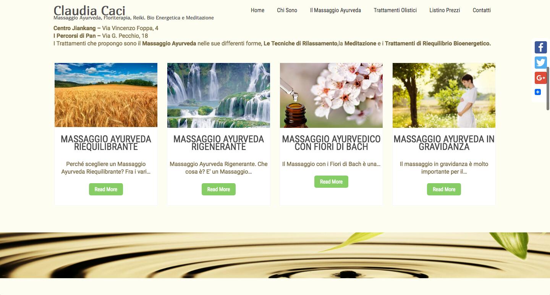 Sito Web Claudia Caci Massaggi