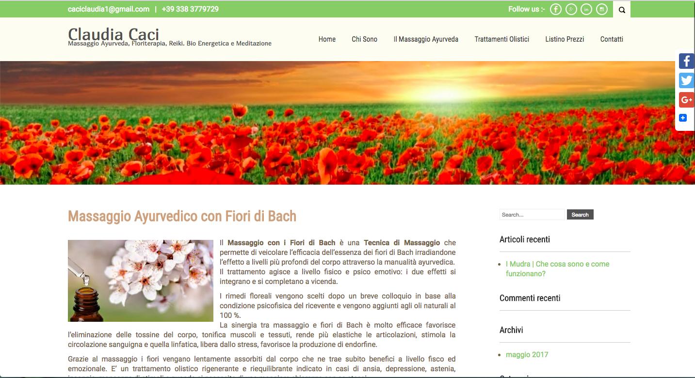 Sito Web Claudia Caci Trattamenti Olistici