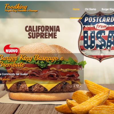 Sito ristorazione per Burger king Brembate
