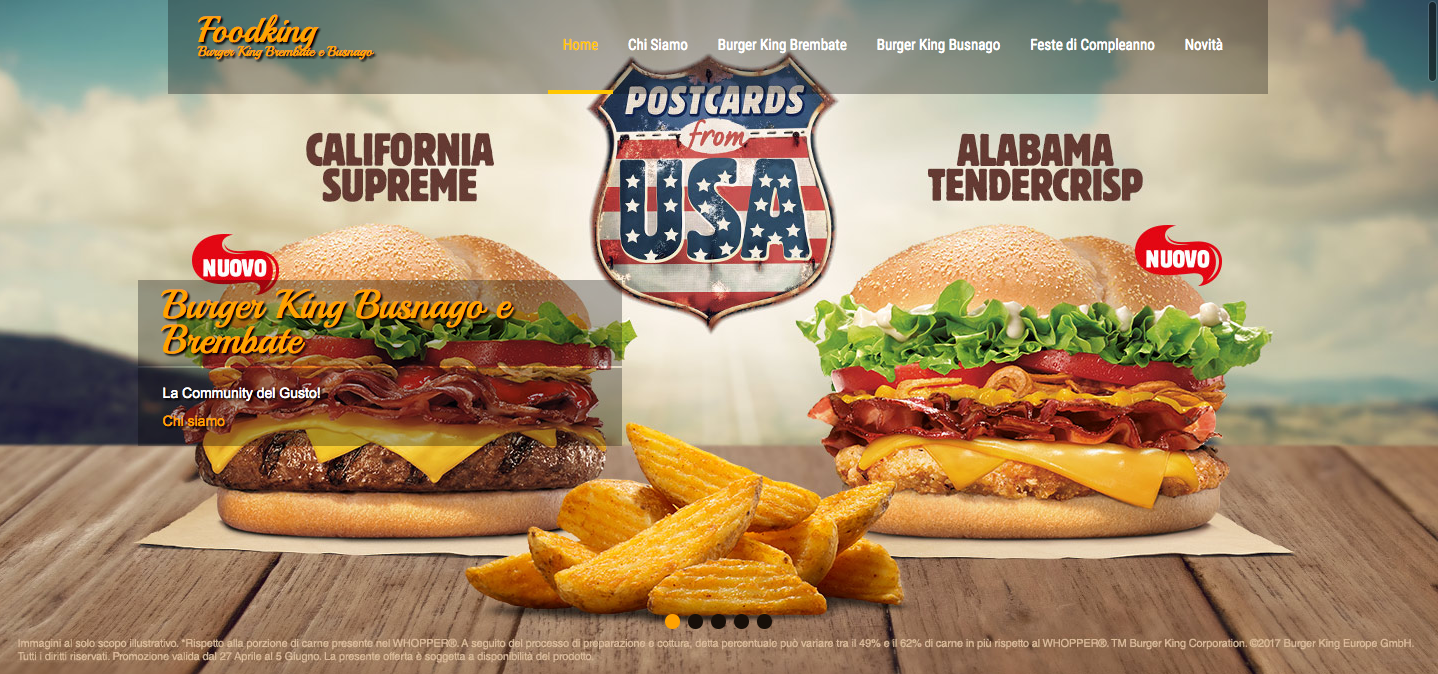 immagine slider homepage sito Foodking.it