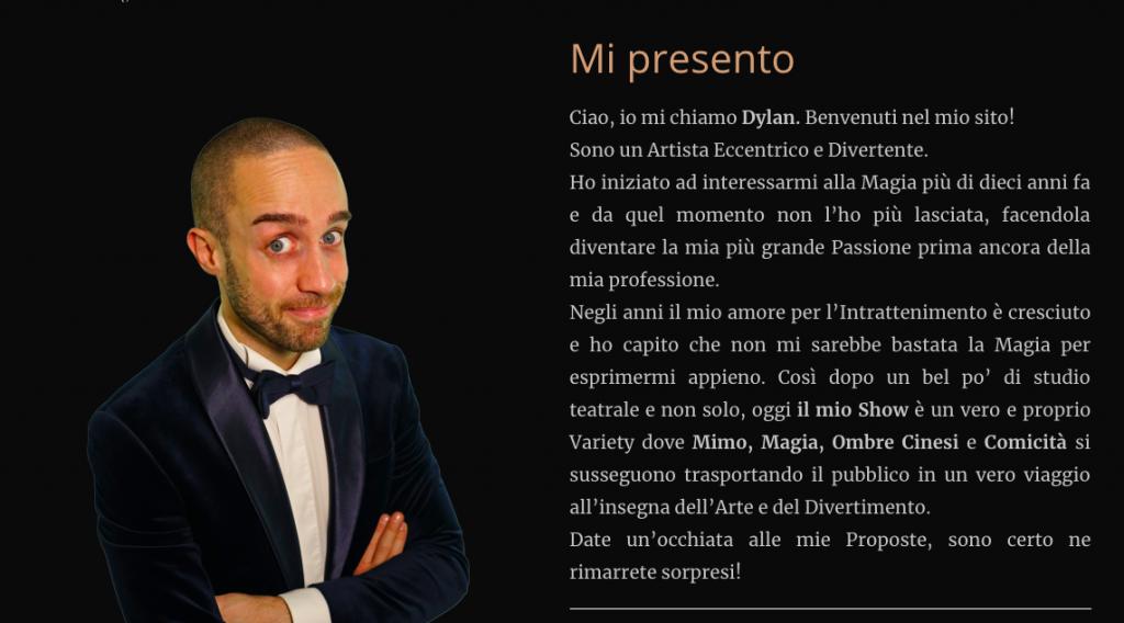 Chi Siamo - Sito Mago Dylan